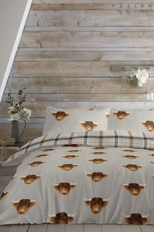 Highland Cow Duvet Cover and Pillowcase Set by Fusion