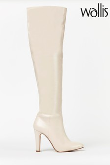 Wallis Pinot Natural Almond Over The Knee Boots
