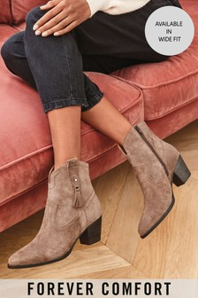 Mink Forever Comfort® Western Ankle Boots