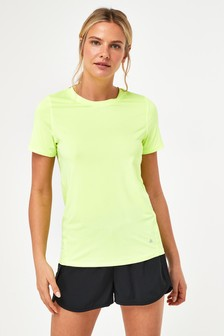 Fluro Yellow Short Sleeve Sports T-Shirt