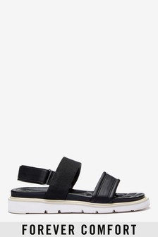 Black Forever Comfort® Lite Two Band Sandals