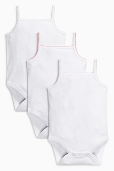 White Vests Three Pack (0mths-3yrs)