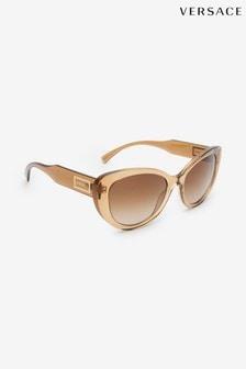 Versace Brown Cat-Eye Sunglasses