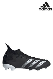 adidas Black Predator P2 Firm Ground Football Boots