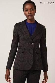 Phase Eight Black Joanna Jacquard Jacket