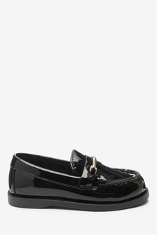 Black Penny Snaffle Loafers