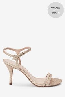 Shimmer Two Strap Sandals