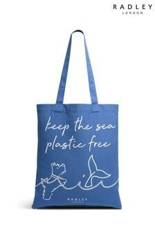 Radley London Blue Keep The Sea Plastic Free Medium Tote