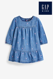 Gap Heart Embellished Denim Dress