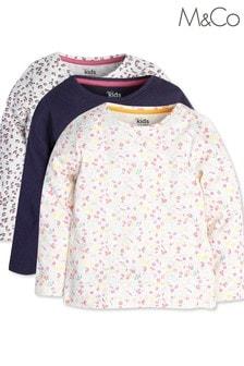 M&CoPink Pointelle T-Shirts Three Pack