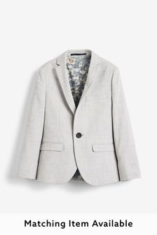 Grey Skinny Fit Suit Jacket (12mths-16yrs)