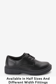 Black Standard Fit (F) Chunky Lace-Up Shoes