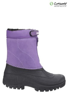 Cotswold Purple Venture Waterproof Winter Boots