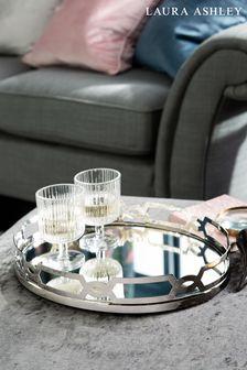 Laura Ashley Fitzgerald Silver Mirror Tray