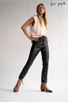 Free People Vegan Leather Jeans