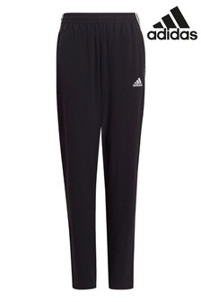 adidas Black Performance 3 Stripe Woven Joggers