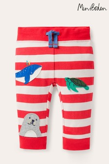 Boden Red Novelty Appliqué Trousers