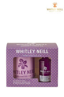 Rhubarb & Ginger Gin And Gin & Tonic Candle Gift Set by Whitley Neill