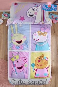 Peppa Pig™ Cute Squad Duvet Cover and Pillowcase Set