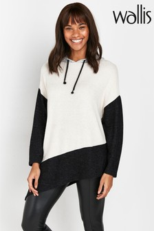 Wallis Natural Stone Colourblock Hoody