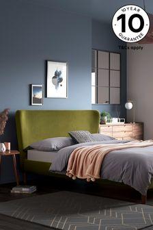 Opulent Velvet Olive Wilson Bed