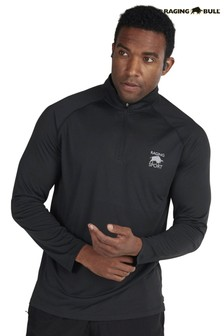 Raging Bull Black Performance Zip Sweat Top