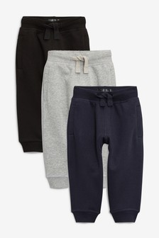 Grey/Navy/Black Essential Joggers Three Pack (3mths-7yrs)
