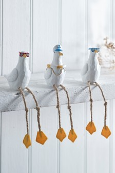 Set of 3 Seagull Decorations
