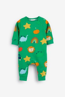 Green Character Printed Romper (0mths-2yrs)
