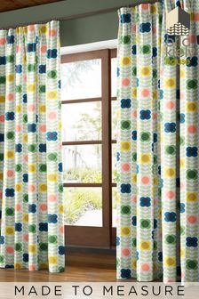 Summer Flower Stem Multi Cream Made To Measure Curtains by Orla Kiely