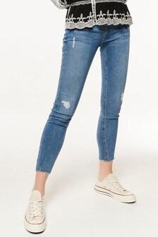 M&Co Blue Rip & Repair Skinny Jeans