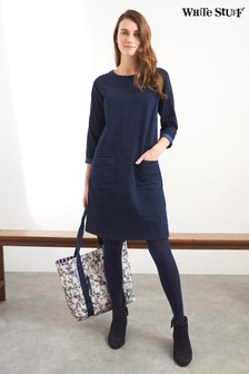White Stuff Navy Sophie Shift Dress