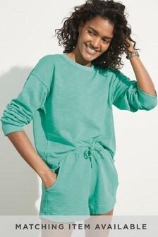 Green Neon Cotton Sweatshirt