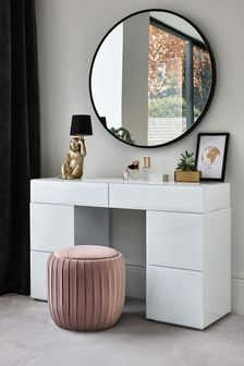 Marble Sloane Storage Dressing Table / Desk