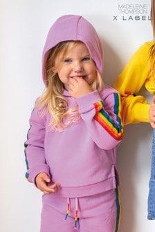 Mix/Madeleine Thompson Rainbow Stripe Hoodie