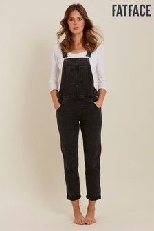 FatFace Overdye Black Lewes Dungarees