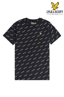 Lyle & Scott Black All Over Print T-Shirt