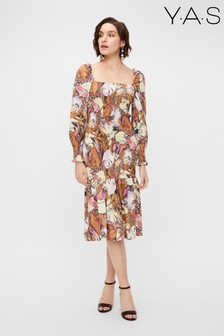 Y.A.S Sustainable Floral Abeila Organic Cotton Smock Dress
