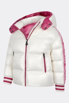 Girls White Down Padded Azzurra Jacket