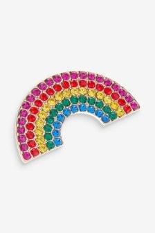 Multi 'A Little Gift' Rainbow Brooch