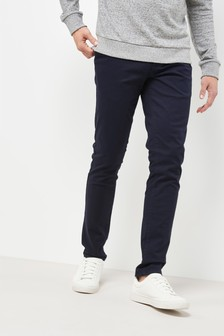 Navy Skinny Fit Stretch Chinos