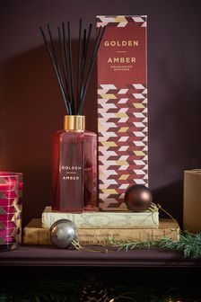 Golden Amber 180ml Fragranced Reed Diffuser