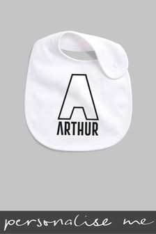 Personalised Outline Initial Bib