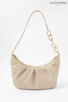 Accessorize Cream Stella Chain Strap Bag