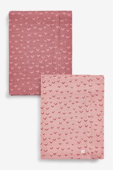 Blush 2 Pack Extra Large Muslin Cloths (Newborn)