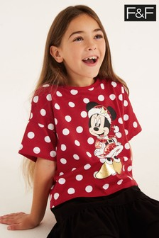 F&F Red Christmas Minnie Mouse™ T-Shirt