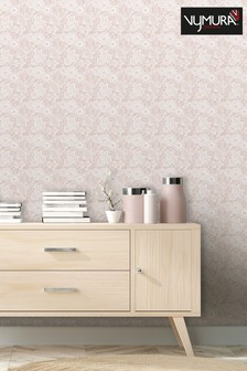 Stamped Floral Wallpaper by Vymura London