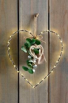 Lit Hanging Heart