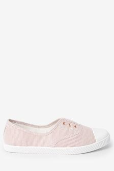 Neutral Slip On Canvas Shoes