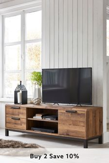 Oak Effect Bronx Wide TV Stand
